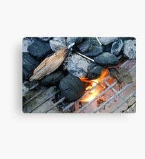 Lighting the Grill Canvas Print