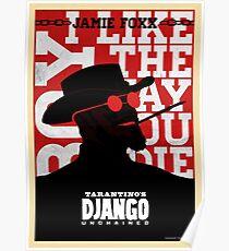 Póster Django desencadenado