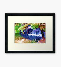 Trippy Waterfall Framed Print