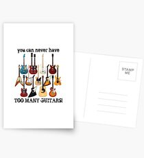 Too Many Guitars! Postcards