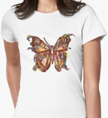 GOLD BUTTERFLY Womens Fitted T-Shirt