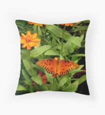 Orange Creatures Throw Pillow