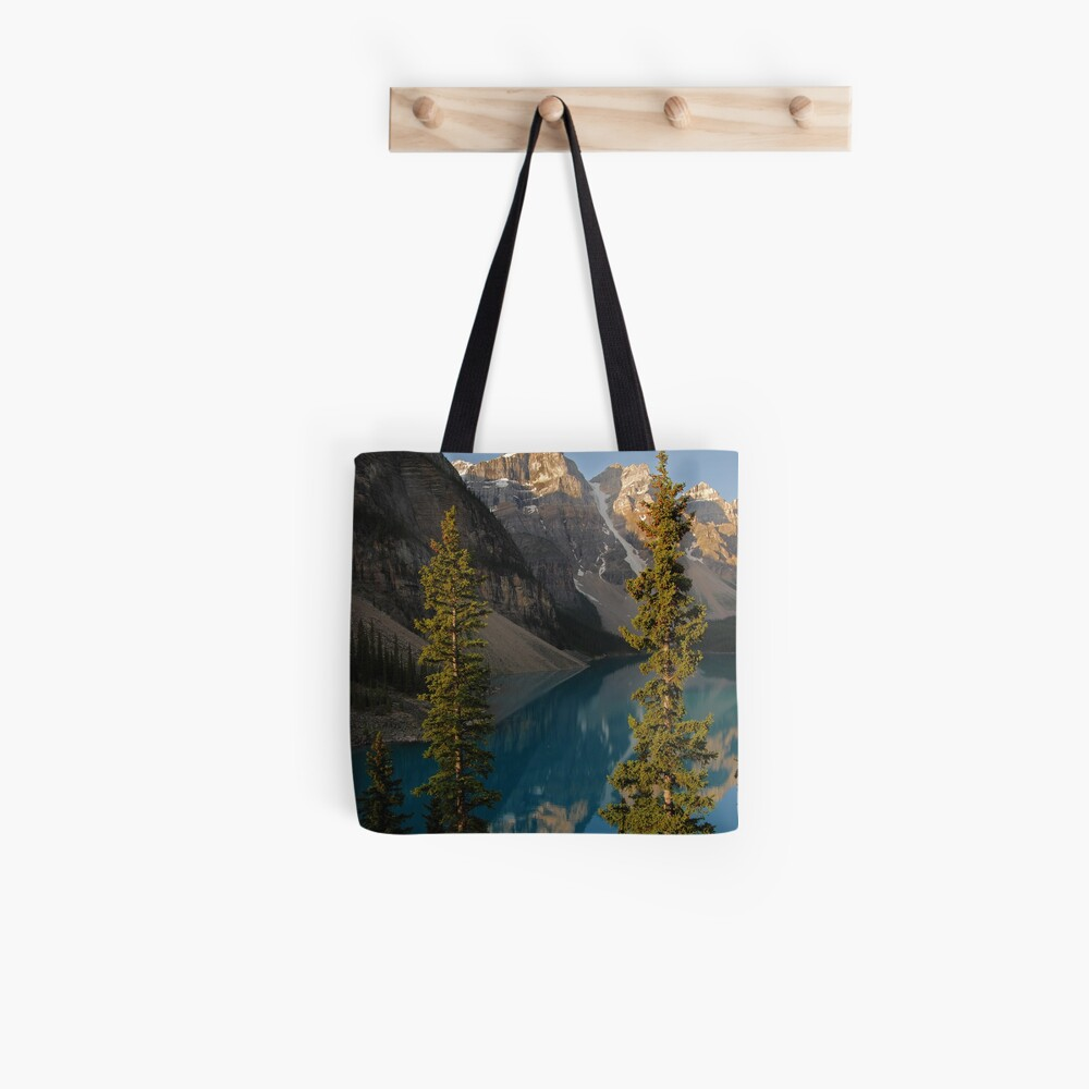 Start Another Day ~ Moraine Lake series by Barbara Burkhardt Tote Bag