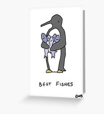 Best Fishes - Get Well Soon Penguin Greeting Card