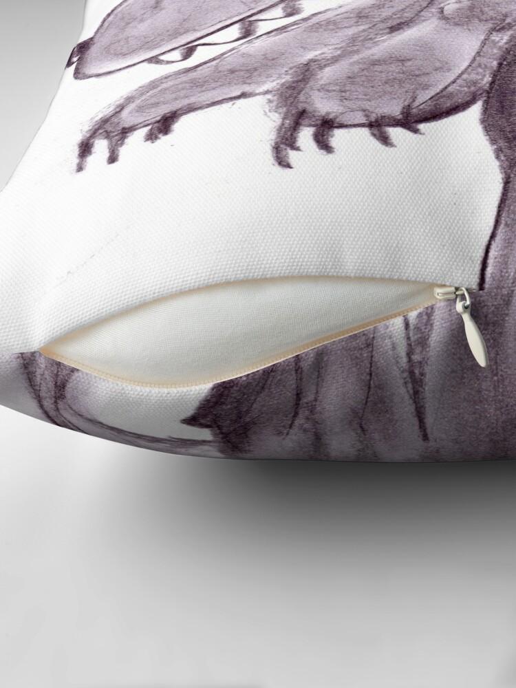 Alternate view of Frightening werwolf Throw Pillow