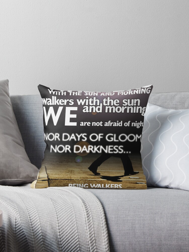 Walkers With The Dawn By Langston Hughes Throw Pillow By Poetryarts Redbubble