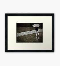 Burberry rain Framed Print