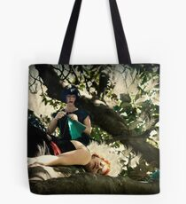 """""""i will knit us a nest"""" said the crow to the lyrebird Tote Bag"""