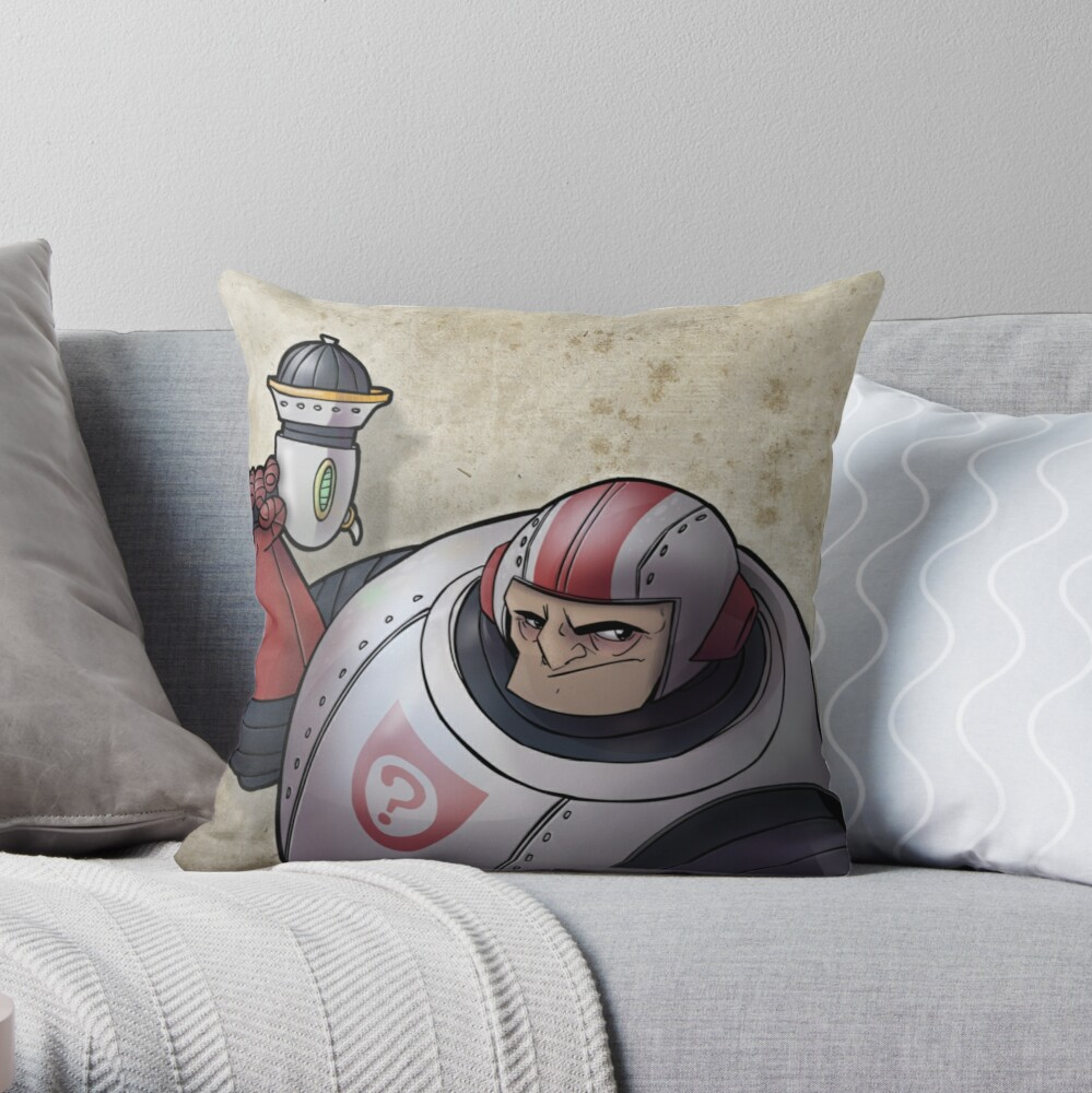 Space Buffoon Throw Pillow