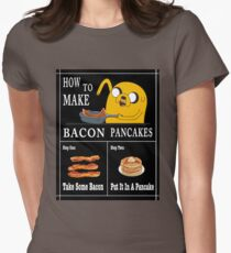 How To: Bacon Pancakes Women's Fitted T-Shirt