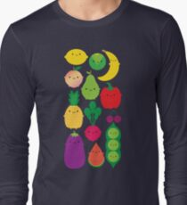 5 A Day Fruit & Vegetables Long Sleeve T-Shirt