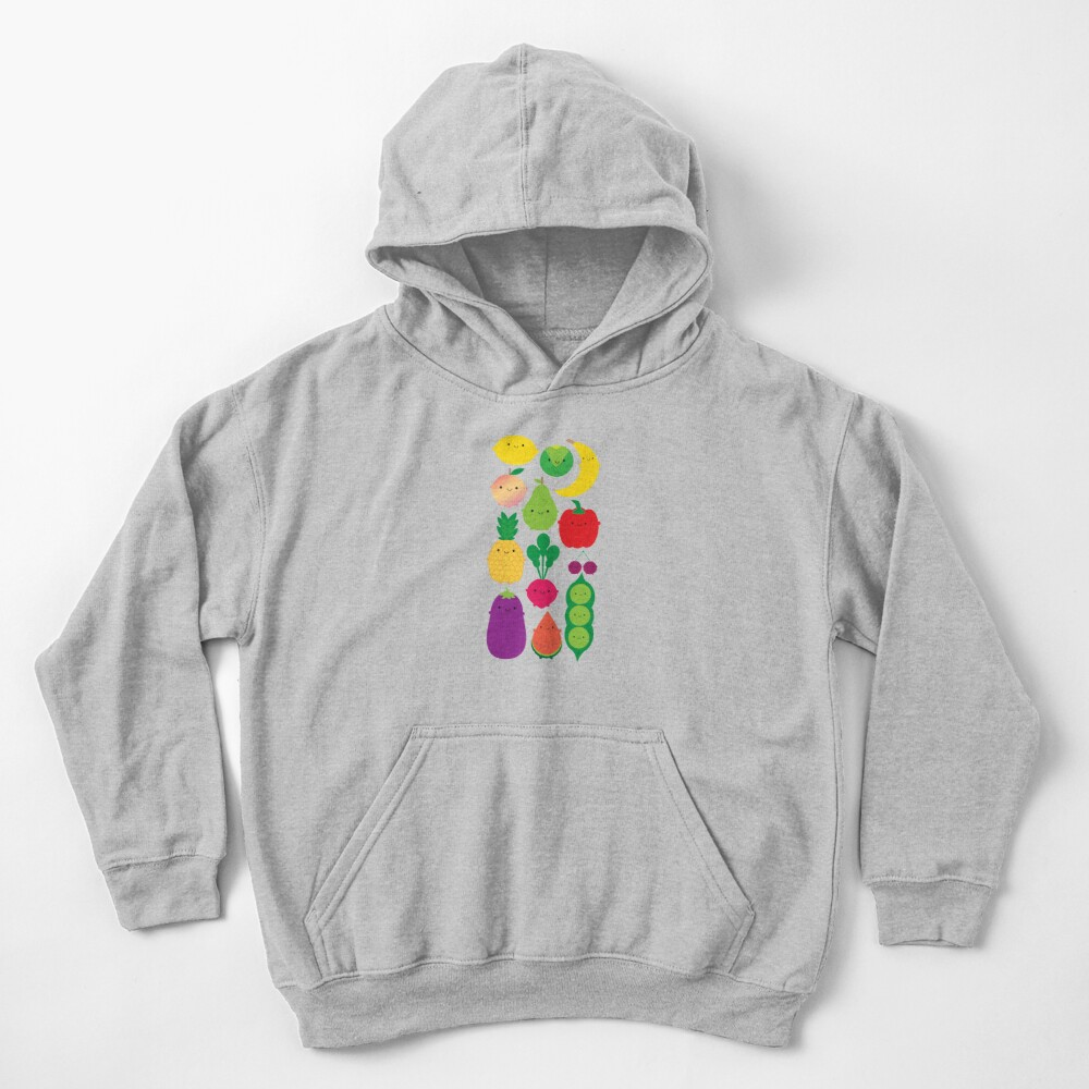 5 A Day Fruit & Vegetables Kids Pullover Hoodie