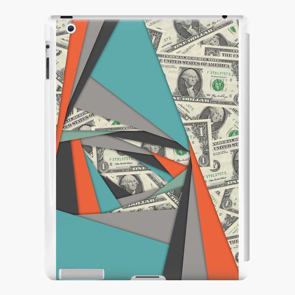 Colorful Currency Collage iPad Cases & Skins