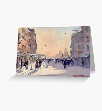 Venice from Via Garibaldi Greeting Card