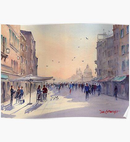 Venice from Via Garibaldi Poster