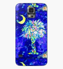 Palmetto Tree & Moon Mosaic Case/Skin for Samsung Galaxy