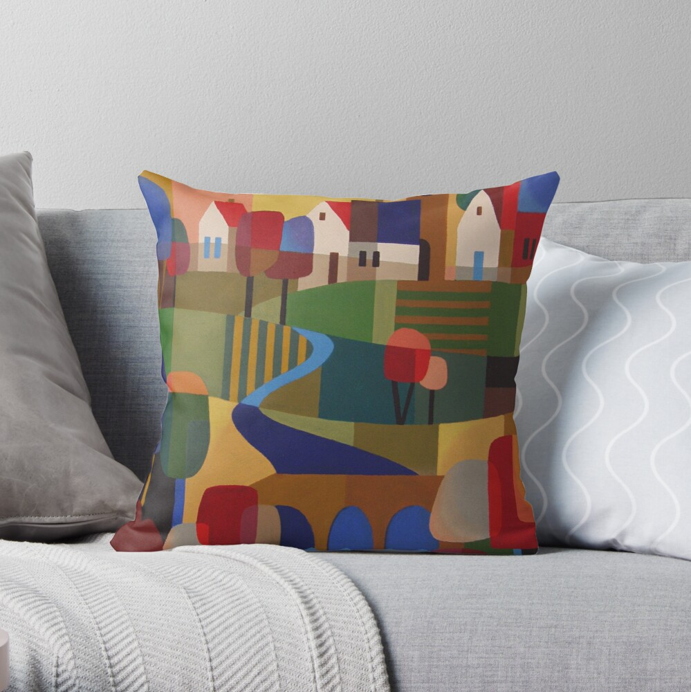 RICHMOND VIEW, TASMANIA Throw Pillow