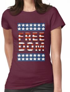 Freedom - Stars and Stripes Womens Fitted T-Shirt