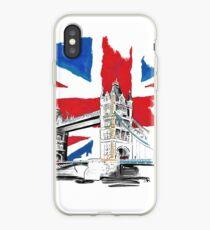 British Union Jack Flag - Tower Bridge, London iPhone Case
