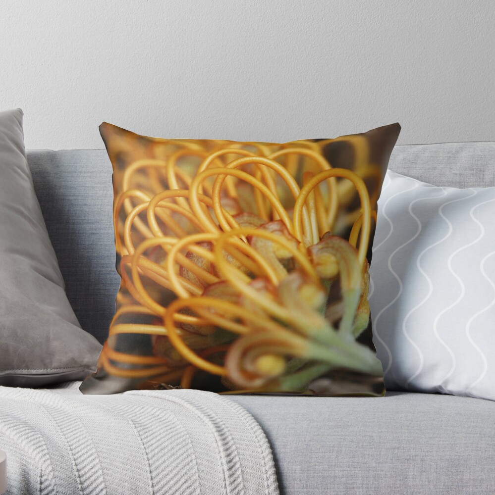 Looped styles Throw Pillow
