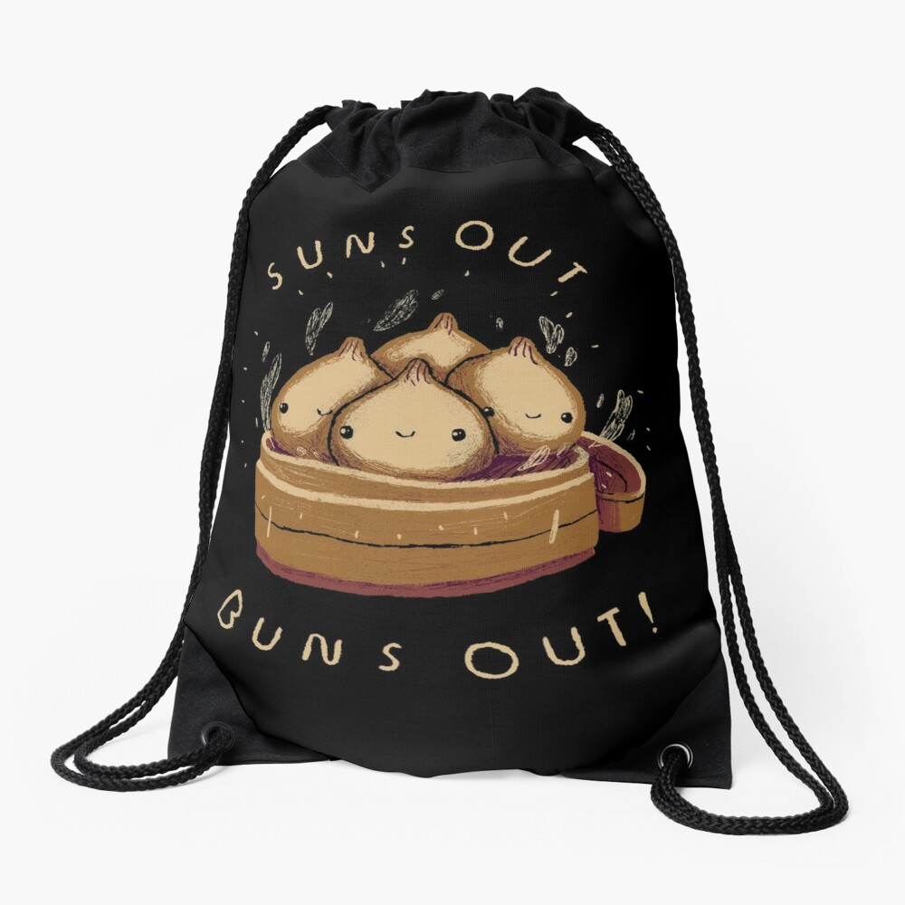 suns out buns out! Drawstring Bag