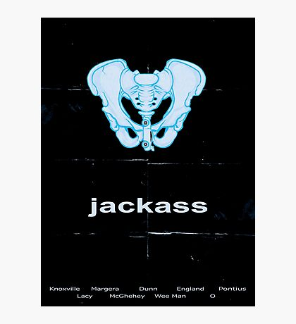 Minimalist Jackass Movie Poster Photographic Print