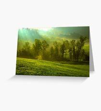 Alba raggi luminosi, Crociale di Zocca - (modena italy)_4535 Greeting Card