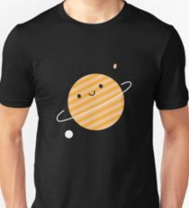 Happy Planet in Space Unisex T-Shirt
