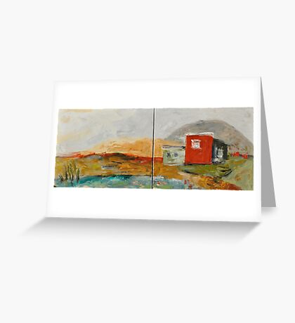 Red House on the Lake Greeting Card