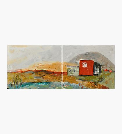 Red House on the Lake Photographic Print