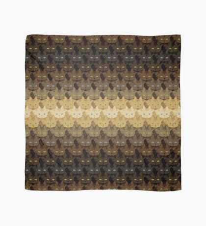 Brown Tabby Horizontal Stripe Cattern [Cat Pattern] Scarf