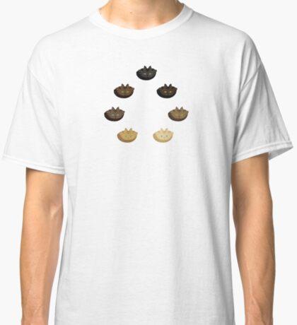 Brown Tabby Horizontal Stripe Cattern [Cat Pattern] Classic T-Shirt