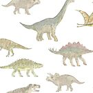 Dinosaur Pattern by Mason Griffiths