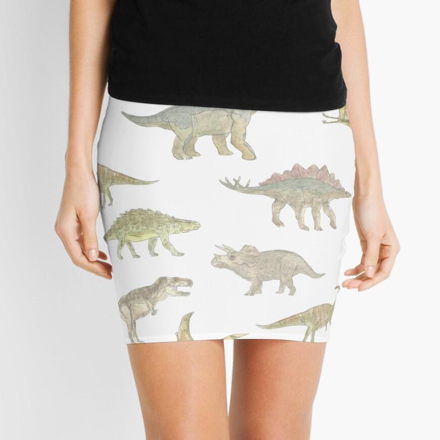 Dinosaur Pattern Mini Skirt