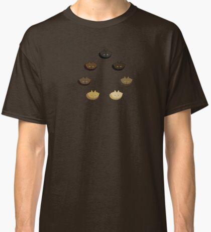 Brown Vertical Stripe Cattern [Cat Pattern] Classic T-Shirt