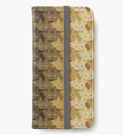 Brown Tabby Vertical Stripe Cattern [Cat Pattern] iPhone Wallet