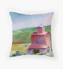 Hay Barn - Everyday Heroes  Throw Pillow