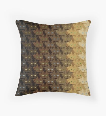 Brown Tabby Vertical Stripe Cattern [Cat Pattern] Throw Pillow