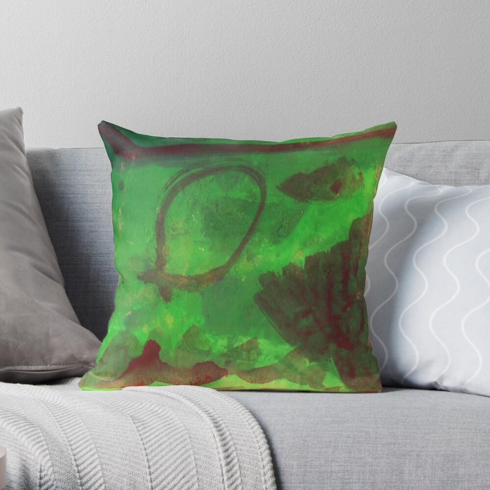 Abstract Aquarium Throw Pillow