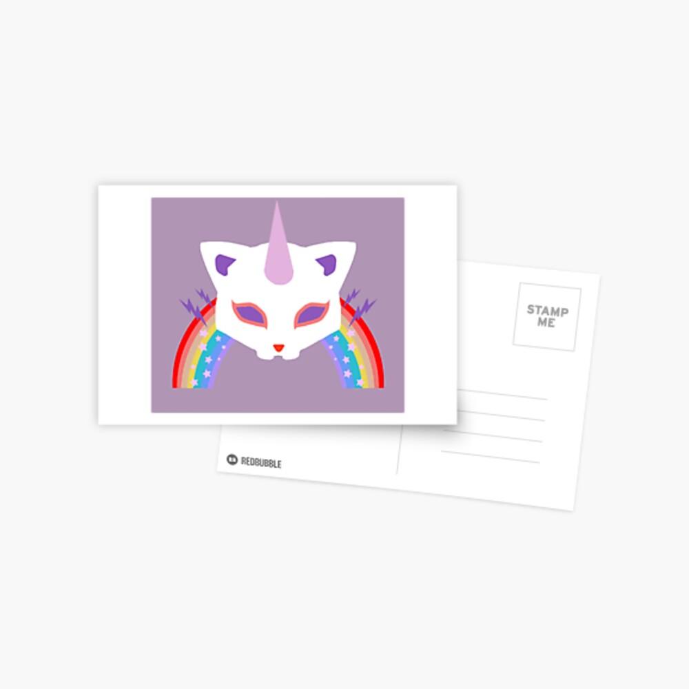 Kitty Abschnitt Rainbow Miraculous Ladybug Postkarte