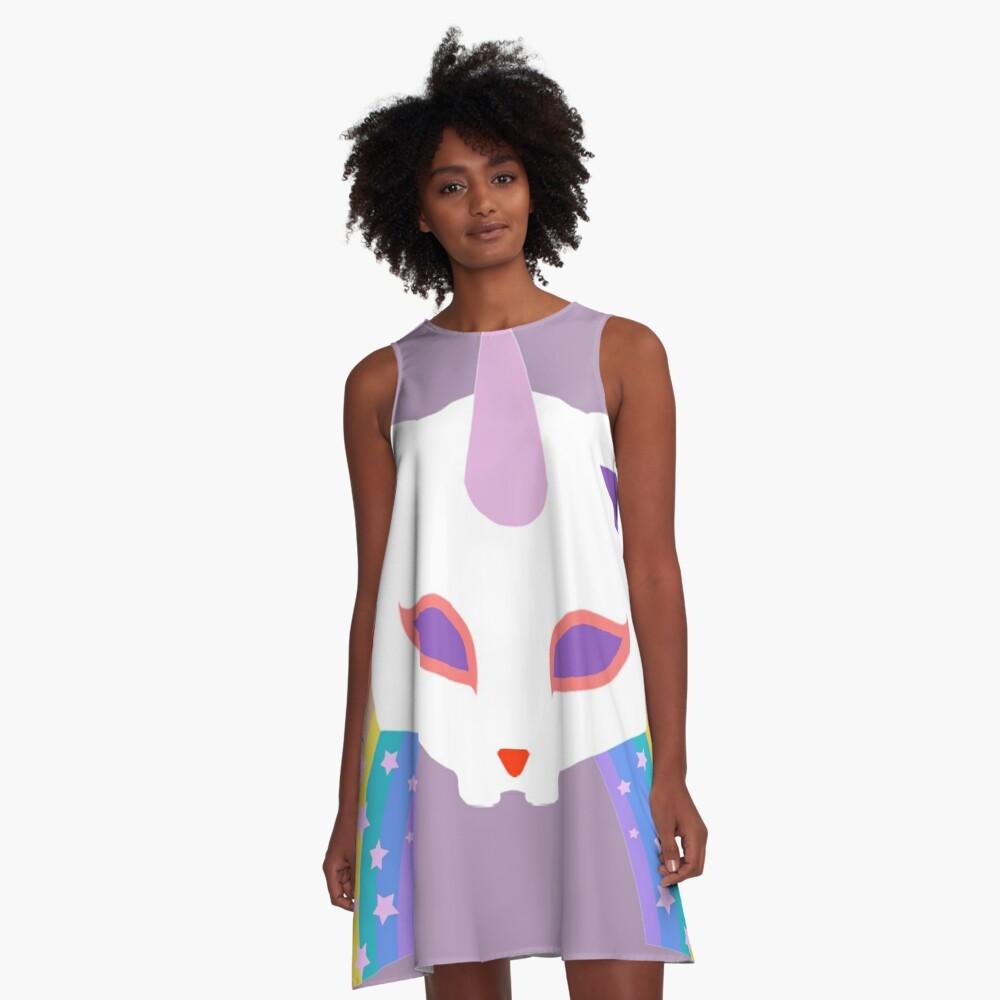 Kitty Abschnitt Rainbow Miraculous Ladybug A-Linien Kleid