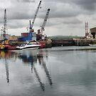 Glasson Dock . by Lilian Marshall