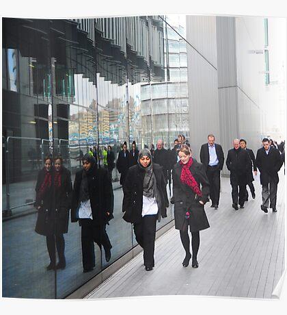 Street Reflections: Southbank London Poster