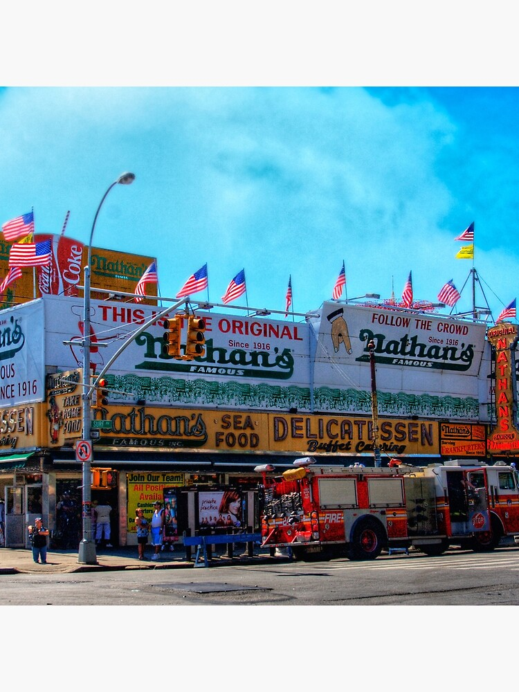 Nathan's Famous Frankfurters, Original Headquarters, Coney Island, Brooklyn, USA by ChrisLord