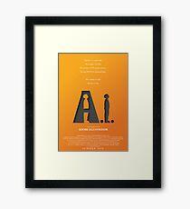 Artificial Intelligence vs. Adobe Illustrator Framed Print
