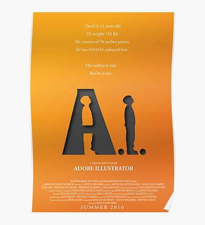 Artificial Intelligence vs. Adobe Illustrator Poster