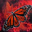 Winged Fire- Monarch Butterfly  by Amanda  Shelton