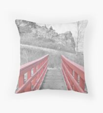 Red. Throw Pillow