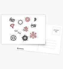 Supernatural Sigils and Symbols Postcards