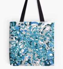 Blue Tones 2 Abstract Pattern  Tote Bag
